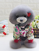 Dog Clothes/Jumpsuit Dog Clothes Casual/Daily Flag Blue Red