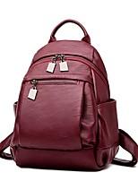 Women Bags All Seasons PU Backpack Zipper for Casual Blue Black Bronze Purple Wine