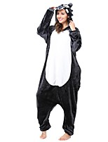 kigurumi Pyjamas Loup Collant/Combinaison Fête / Célébration Pyjamas Animale Halloween Gris Animal Costumes de Cosplay Pour Unisexe