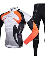 Realtoo Cycling Jersey with Tights Men's Long Sleeves Bike Clothing Suits Quick Dry 3D Pad Polyester 100% Polyester LYCRA® Classic Fashion