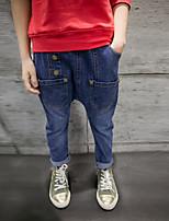 Jeans Da ragazzo Cotone Poliestere Elastene Tinta unita Primavera Autunno