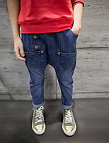 Jungen Jeans einfarbig Baumwolle Polyester Elasthan Frühling Herbst