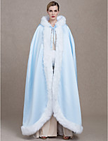 Women's Wrap Capes Faux Fur Satin Wedding Party/ Evening