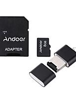 andoer 8gb classe 10 scheda di memoria tf scheda di adattatore scheda flash drive usb per macchina fotografica auto macchina fotografica