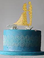 Cake Topper Monogram Plastic Wedding Party PVC Bag