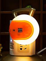 la nuit futée menée intelligente avec le capteur de lumière et l'adaptateur de chargeur d'usb double pour les téléphones portables iphone 7 6s