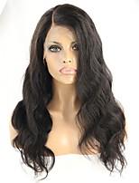 Donna Parrucche di capelli umani con retina Remy Senza colla e con tulle frontale 130% 150% Densità Con ciuffetti Ondulato naturale