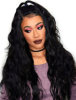 Women Human Hair Lace Wig Full Lace Wigs 180% Density Body Wave Wigs Peruvian Hair Black Long