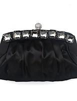 Damen Taschen Ganzjährig Seide Abendtasche mit Perlenstickerei Rüschen für Hochzeit Veranstaltung / Fest Schwarz Purpur Gelb Wein Khaki