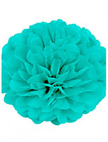 cheap -Tiffany Blue (Set of 10) - 6 inch Paper Tissue Pom Pom Flower Beter Gifts® DIY Wedding Party Decoration