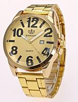 Men's Dress Watch Fashion Watch Wrist watch Chinese Quartz Imitation Diamond Alloy Band Elegant Casual Gold