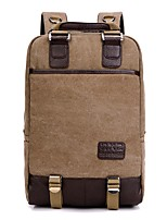 Men Bags All Seasons Canvas Backpack Zipper for Casual Professioanl Use Blue Black Coffee Red