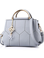 Women Bags All Seasons PU Tote Rivet for Formal Office & Career Black Blushing Pink Gray Purple Army Green