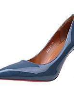 Femme Chaussures Polyuréthane Automne Escarpin Basique Chaussures à Talons Talon Aiguille Bout pointu Pour Décontracté Habillé Noir Gris