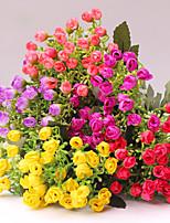 1 Ramo Plástico Rosas Flor de Mesa Flores artificiais