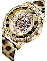 ASJ Women's Fashion Watch Japanese Quartz PU Band Silver Gold