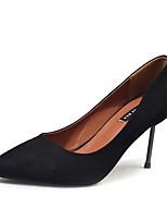 Для женщин Обувь Полиуретан Весна Лето Осень Удобная обувь Обувь на каблуках На шпильке Заостренный носок Назначение Для праздника Черный
