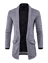 cheap -Men's Daily Regular Cardigan,Solid V Neck Long Sleeves Japanese Cotton Spring Fall Opaque Micro-elastic