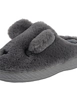 Boys' Shoes Velvet Winter Fur Lining Fluff Lining Comfort Slippers & Flip-Flops Pom-pom For Casual Khaki Gray Black