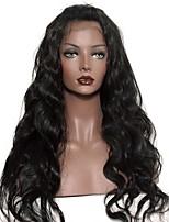 Donna Parrucche di capelli umani con retina Brasiliano Cappelli veri Senza colla e con tulle integrale 120% Densità Con ciuffetti Ondulati