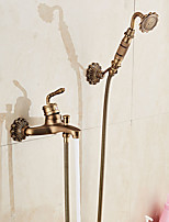 Centerset Normal with  Ceramic Valve Single Handle Two Holes for  Antique Copper , Bathtub Faucet
