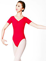 Danza classica Per donna Esibizione Nylon 1 pezzo Maniche corte Naturale Calzamaglia