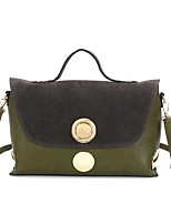 Women Bags All Seasons PU Shoulder Bag Zipper for Casual Formal Black Blushing Pink Military Green