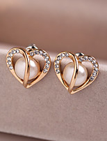 Women's Stud Earrings Fashion Alloy Heart Jewelry For Wedding Party
