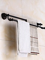 The European dark towel rack bathroom towel bar towel rack