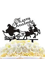 Pastel de acrílico inserções Natal Papai Noel decoração do bolo