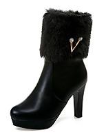 Femme Chaussures Polyuréthane Automne Hiver Confort Nouveauté Bottes à la Mode Botillons Bottes Gros Talon Bout pointu Bottine/Demi Botte