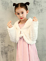 Kids' Wraps Shrugs Faux Fur Wedding Party/ Evening Pattern / Print Sweetheart