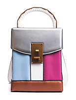 Women Bags All Seasons PU Tote Zipper for Casual Outdoor Blue Black Beige Fuchsia