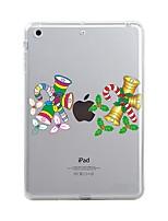 abordables -Para iPad (2017) iPad 10.5 iPad Pro 12.9 '' Carcasa Funda Transparente Diseños Cubierta Trasera Funda Navidad Suave TPU para Apple IPad