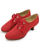 Women's Modern Suede Leatherette Heel Professional Red
