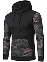 Men's Casual/Daily Hoodie Solid Round Neck Micro-elastic Cotton Long Sleeve Fall
