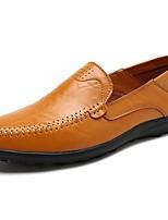Homme Chaussures Polyuréthane Printemps Automne Confort Mocassins et Chaussons+D6148 Pour Décontracté Noir Marron Brun claire
