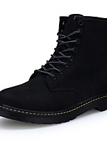 Men's Shoes PU Spring Fall Comfort Riding Boots Fashion Boots Motorcycle Boots Combat Boots Boots Mid-Calf Boots Lace-up For Casual