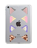 cheap -For iPad (2017) Case Cover Transparent Pattern Back Cover Case Tile Transparent Soft TPU for Apple iPad (2017) iPad Pro 12.9'' iPad Pro