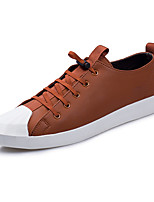 Men's Shoes Leatherette Spring Fall Comfort Sneakers Button For Casual Party & Evening Orange Black
