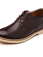 Men's Shoes PU Spring Fall Comfort Combat Boots Oxfords Lace-up For Casual Office & Career Brown Black