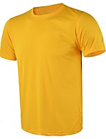 Men's Running T-Shirt Short Sleeves Quick Dry Breathability Lightweight Stretchy Sweat-Wicking T-shirt for Running/Jogging Casual