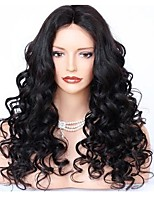 Women Dark Brown Black Curly 360° Frontal Remy Hair Glueless Full Lace Wigs Brazilian Hair 180% 150% Density