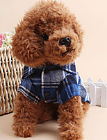 Dog Shirt / T-Shirt Dog Clothes Casual/Daily Plaid/Check Blue Green Red