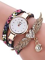 Per donna Orologio alla moda Creativo unico orologio Orologio braccialetto Cinese Quarzo PU Banda Vintage Ciondolo Casual classe Nero Blu