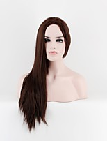 Women Synthetic Wig Capless Long Straight Brown Natural Wigs Costume Wig