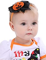 PANSY 2pcslot Baby Girls Halloween Pumpkin Elastic Headband for Newborn