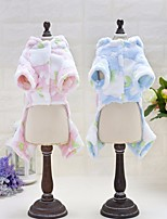 Dog Clothes/Jumpsuit Dog Clothes Casual/Daily Solid Blushing Pink Blue