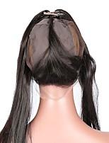 360 laço frontal com peruca cap livre parte reta cabelo malaysian cabelo humano remy 10-20