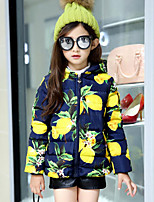 Girls' Solid Print Down & Cotton Padded,Cotton Polyester Fall Winter Long Sleeve